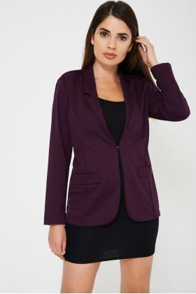 Longline Purple Tailored Blazer