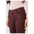 Ladies Burgundy Straight Leg Trousers