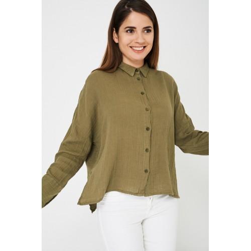 Oversized Khaki Shirt