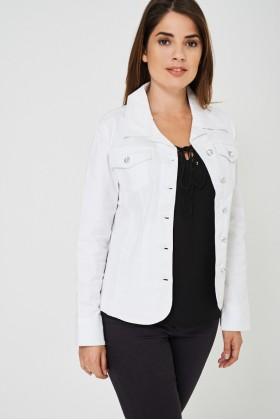 Diamond Button White Jacket