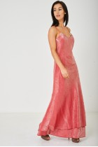 Rose Red Fishtail Maxi Dress