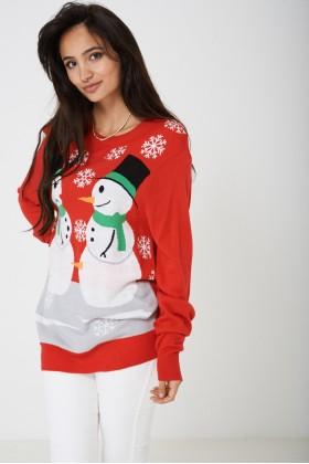 Novelty Christmas Jumper Snowman Unisex