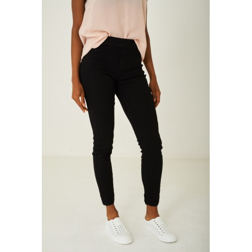 High Waist Skinny Fit Black Jeggings