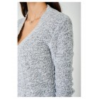 Soft Ladies Grey Cardigan in Mixed Yarn