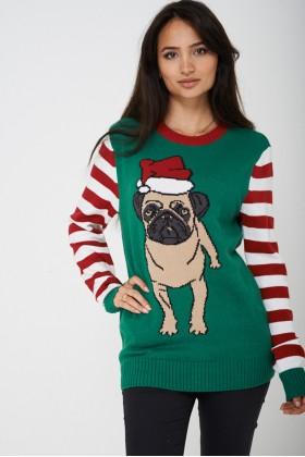 Novelty Christmas Jumper Bulldog Unisex