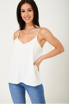 White Loose Fit Cami Top