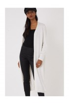 Longline Cardigan Knitted in Cream