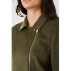 Women's Khaki Faux Fur Jacket