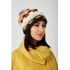 Multicolour Pom Beanie in Chunky Knit
