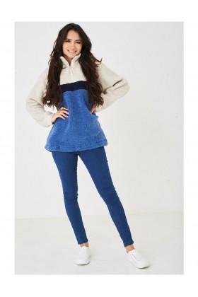 Ladies Blue Teddy Fur Jumper