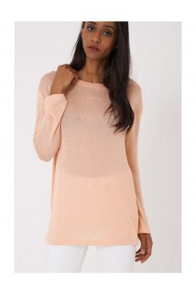 Lightweight Knitted Peach Colour Top