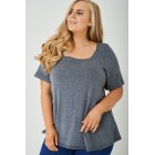 Plus Size Dark Grey Weekend Top