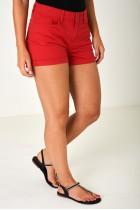 Denim Shorts in Red