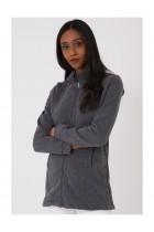 Zipped Hoodie in Grey