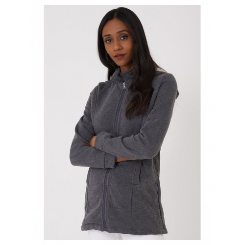 Zipped Hoodie in Grey