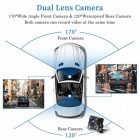 4 Inch HD 1080P Dual Lens Car DVR Front and Rear Camera Video Dash Cam Recorder 170