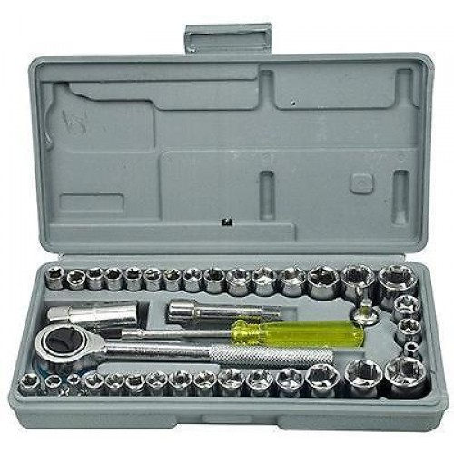 40 Pieces 1/4 & 3/8 Drive Socket Tool Set