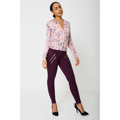 BIK BOK Super Skinny Purple Jeans