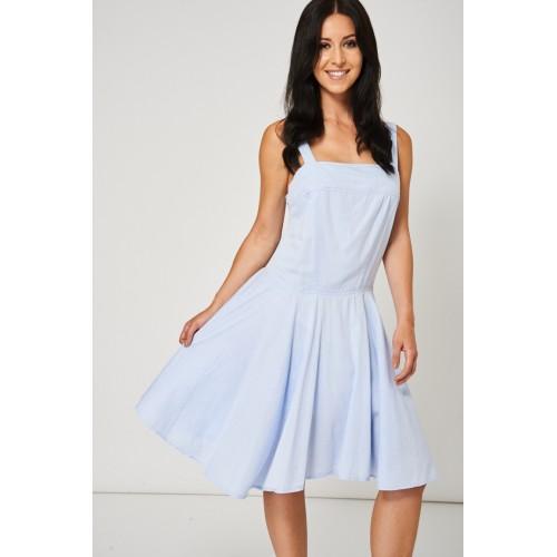 Light Blue Skater Dress Available In Plus Sizes