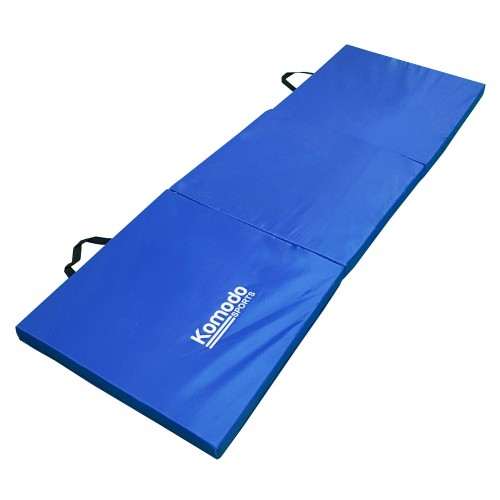 Komodo Tri Folding Gym Mat Blue