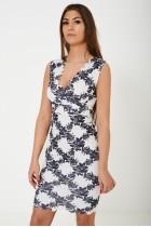Bodycon Dress in Floral Print Multi
