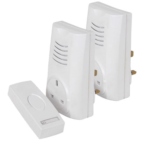 Twin Receiver Door Bell Mains UK Plug