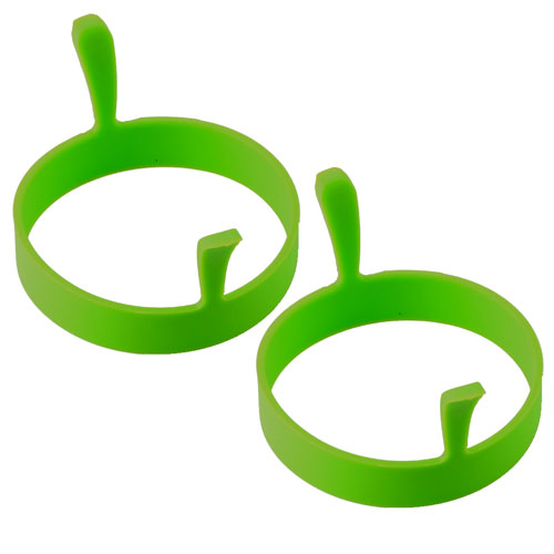 2x Silicone Egg Ring - Green