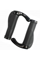 Bicycle Double Locking Handle Bar Grips - Black