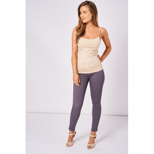 BIK BOK Low Rise Super Skinny Jeans In Grey