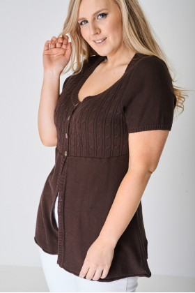PLUS Knitted Four Button Top