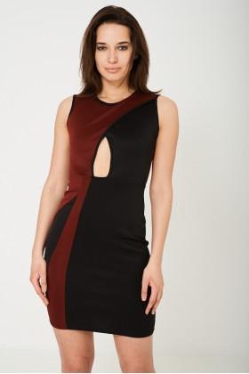 Cut Out Contrast Dress
