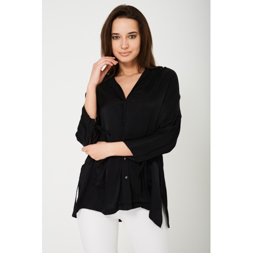 Sateen Black Shirt Ex Brand