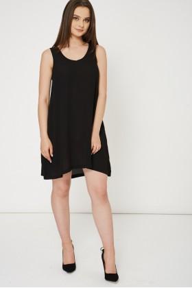 Black Dress With Side Pockets