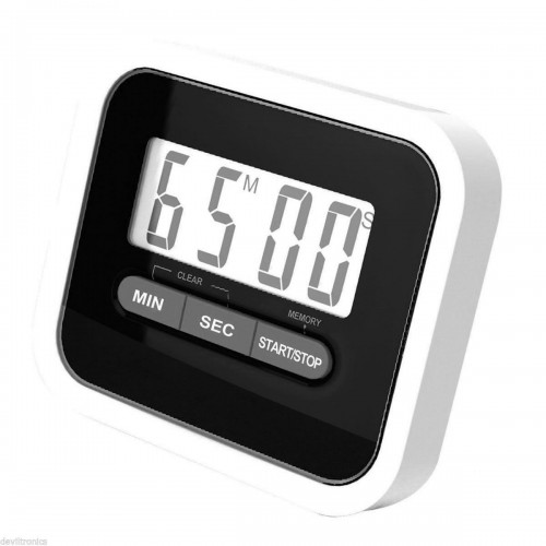 Tekbox Magnetic Kitchen Timer - Black