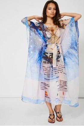 Oversized Kimono Top Limited Stock Blue