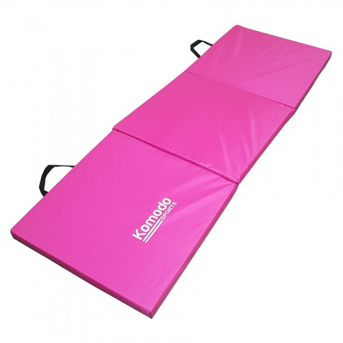 Komodo Tri Folding Gym Mat Pink