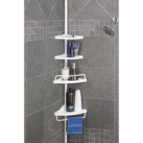 4 Tier Adjustable Shower Corner Shelf Rack