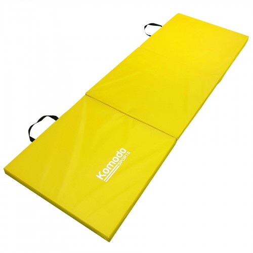 Komodo Tri Folding Gym Mat Yellow