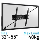 Komodo 32-55 TV Bracket - VESA 200MM TO 400MM