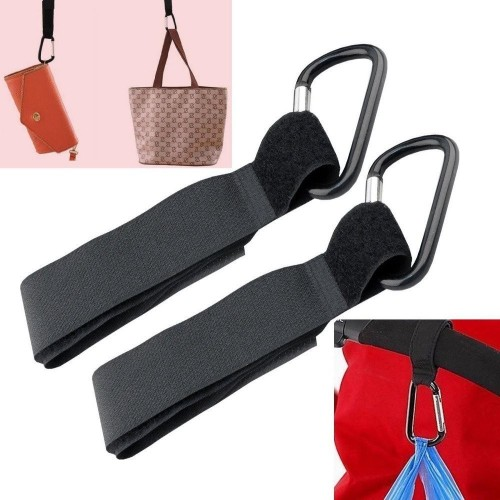 2 x Universal Mummy Pushchair Shopping Bag Clips.