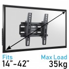 Komodo 14-42 TV Bracket - VESA 75mm TO 200mm