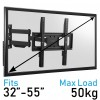 Komodo Heavy Duty Full Motion Swing Arm TV Wall Bracket Mount