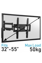 Komodo Heavy Duty Full Motion Swing Arm TV Wall Bracket Mount