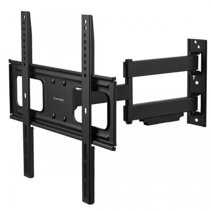 komodo heavy duty full motion swing arm tv wall bracket mount. Black Bedroom Furniture Sets. Home Design Ideas