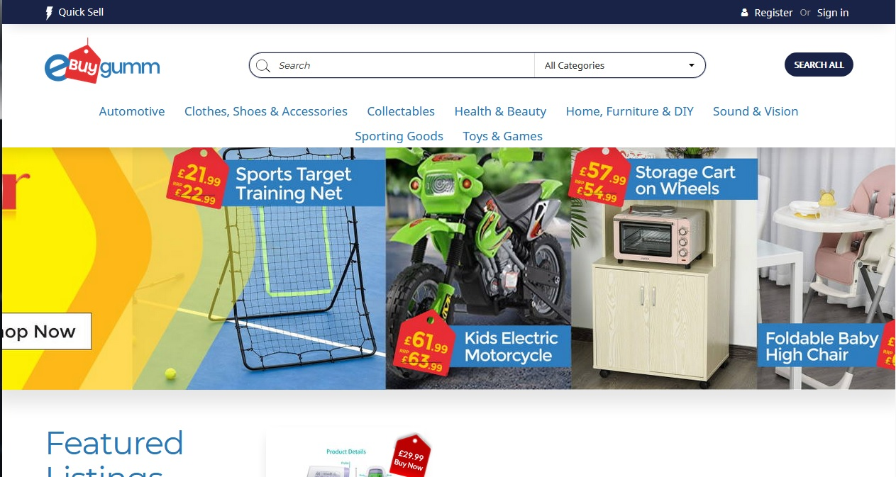 eBUYgumm - the UK only buy and sell online marketplace, that's free!
